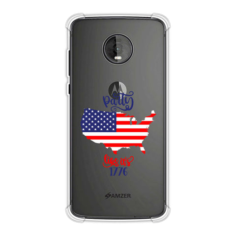 USA Flag - Party Like Its 1776 Soft Flex Tpu Case For Motorola Moto Z4