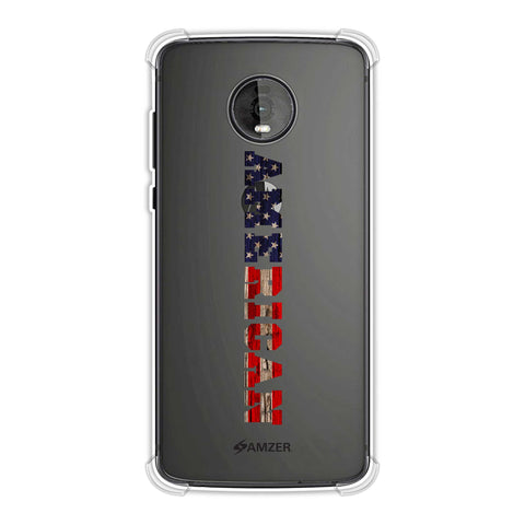 USA Flag - American Textured Soft Flex Tpu Case For Motorola Moto Z4