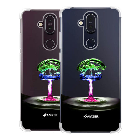 Colorful Droplet Soft Flex Tpu Case For Nokia 8.1