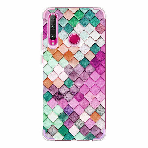 Diamond Lattice Soft Flex Tpu Case For Huawei Honor 20i
