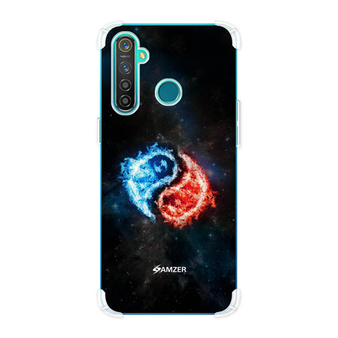 Element - Fire & Water Soft Flex Tpu Case For Realme Q