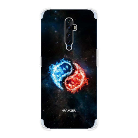 Element - Fire & Water Soft Flex Tpu Case For Oppo Reno2 Z