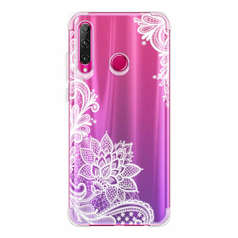 Floral Pattern B/W Soft Flex Tpu Case For Huawei Honor 20i