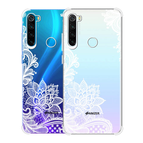 Floral Pattern B/W Soft Flex Tpu Case For Redmi Note 8