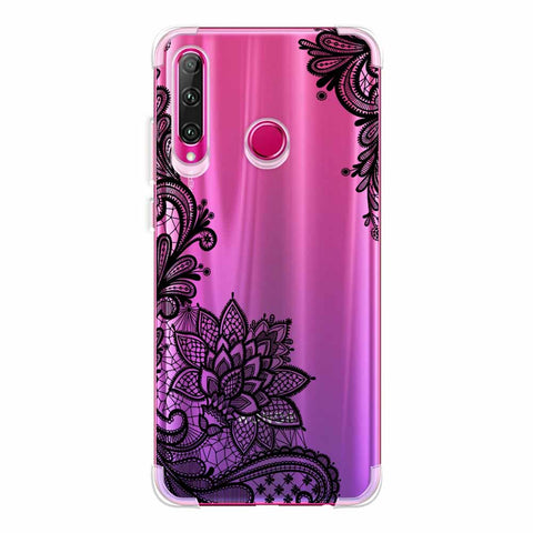 Floral Pattern B/W 1 Soft Flex Tpu Case For Huawei Honor 20i