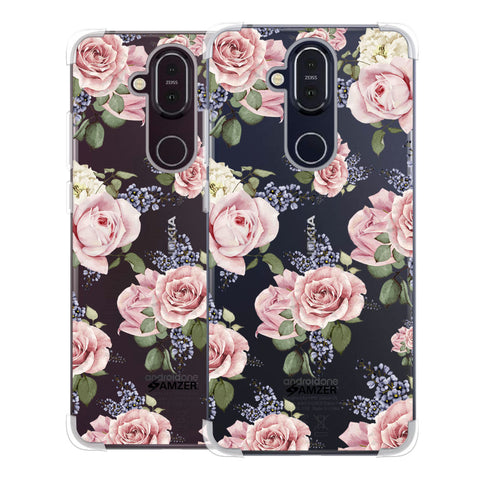 Garden roses Soft Flex Tpu Case For Nokia 8.1