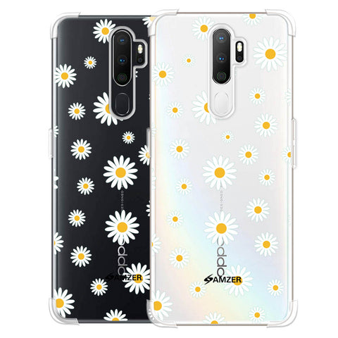 White Daisies Soft Flex Tpu Case For Oppo A5 2020