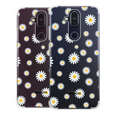 White Daisies Soft Flex Tpu Case For Nokia 8.1