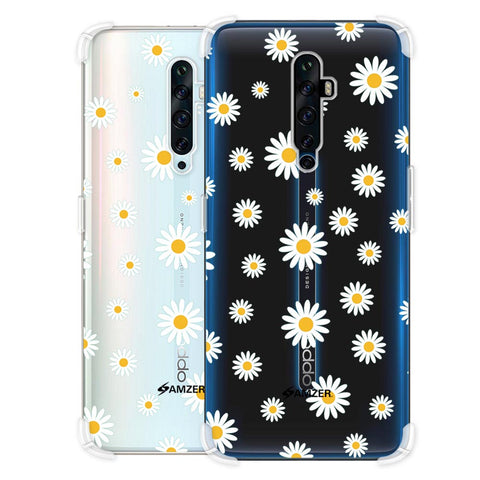 White Daisies Soft Flex Tpu Case For Oppo Reno2 Z