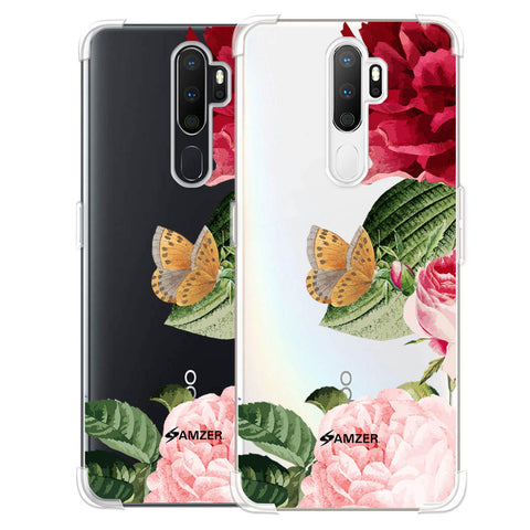 Rose Blossoms Soft Flex Tpu Case For Oppo A5 2020