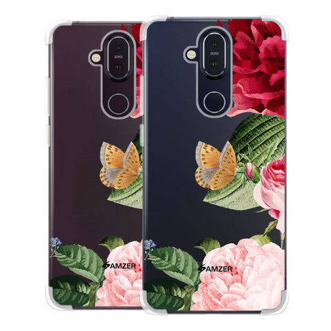 Rose Blossoms Soft Flex Tpu Case For Nokia 8.1