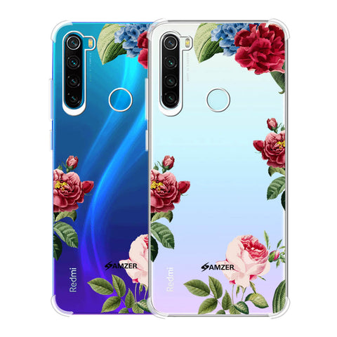 Red/Pink Roses Soft Flex Tpu Case For Redmi Note 8