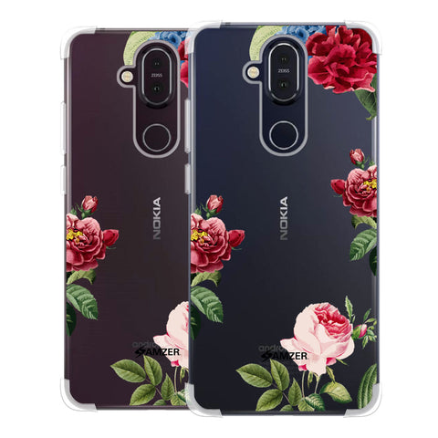 Red/Pink Roses Soft Flex Tpu Case For Nokia 8.1