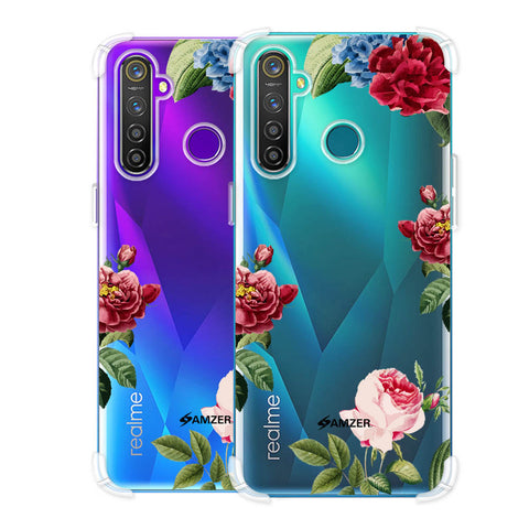 Red/Pink Roses Soft Flex Tpu Case For Realme Q