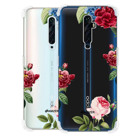 Red/Pink Roses Soft Flex Tpu Case For Oppo Reno2 Z