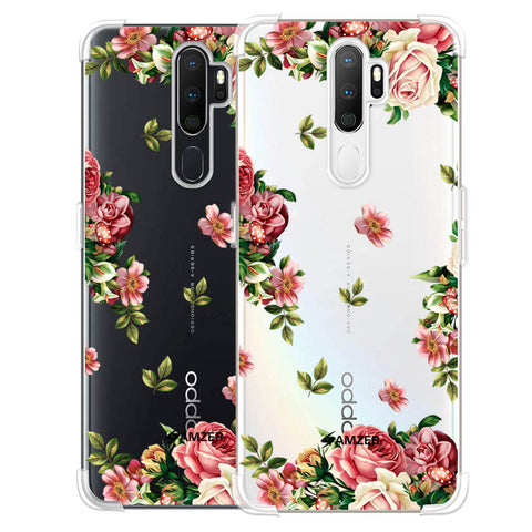 Romantic Antique Pink Soft Flex Tpu Case For Oppo A5 2020