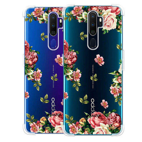 Romantic Antique Pink Soft Flex Tpu Case For Oppo A9 2020