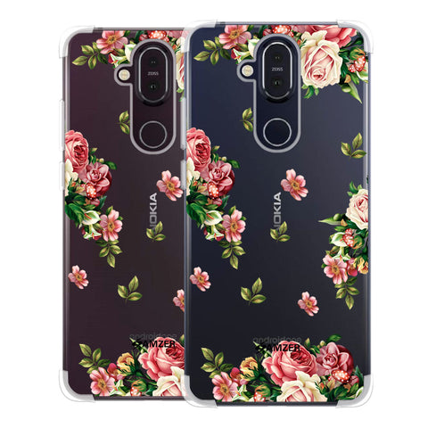 Romantic Antique Pink Soft Flex Tpu Case For Nokia 8.1