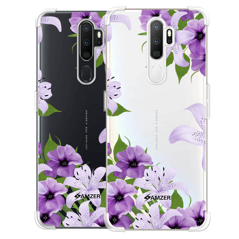 Purple Lily Soft Flex Tpu Case For Oppo A5 2020