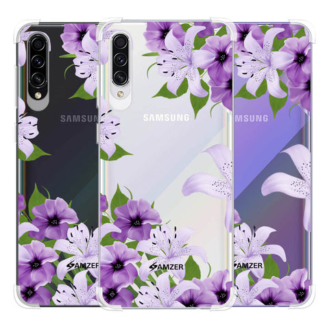 Purple Lily Soft Flex Tpu Case For Samsung Galaxy A50s