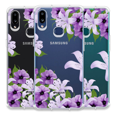 Purple Lily Soft Flex Tpu Case For Samsung Galaxy A10s