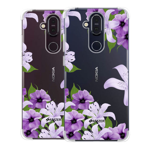 Purple Lily Soft Flex Tpu Case For Nokia 8.1