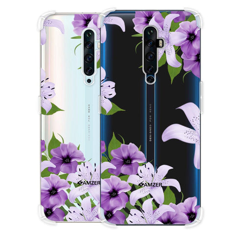 Purple Lily Soft Flex Tpu Case For Oppo Reno2 Z