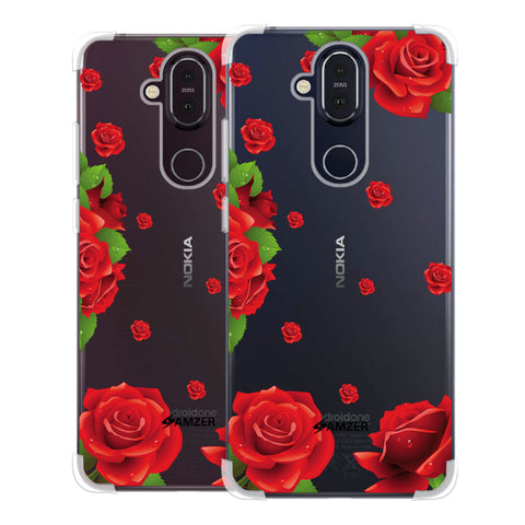 Valentines Rose Soft Flex Tpu Case For Nokia 8.1