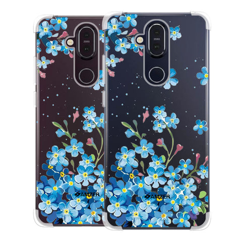 Forget Me Not Soft Flex Tpu Case For Nokia 8.1