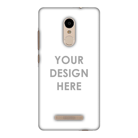 Custom Design It Yourself Slim Hard Shell Case For Xiaomi Redmi Note 3