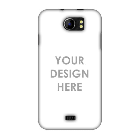 Custom Design It Yourself Slim Hard Shell Case For Micromax Canvas 2 A110