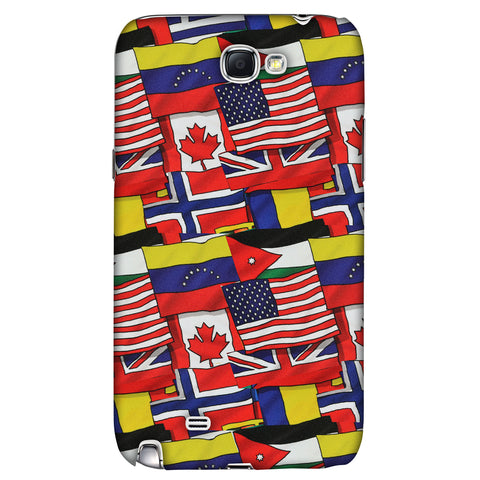 Flags United Slim Hard Shell Case For Samsung Galaxy Note 2