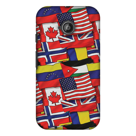 Flags United Slim Hard Shell Case For Motorola Moto E 2nd Gen
