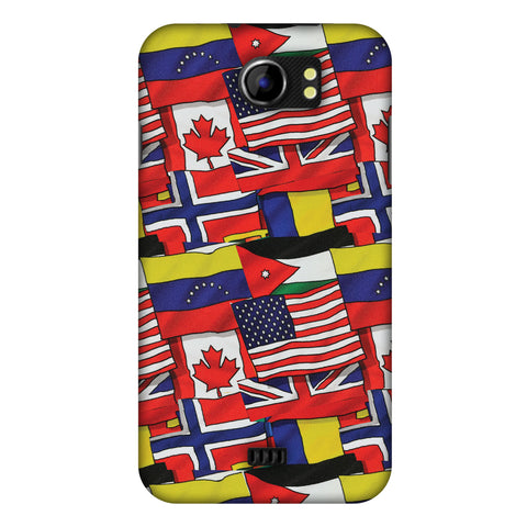 Flags United Slim Hard Shell Case For Micromax Canvas 2 A110