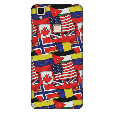 Flags United Slim Hard Shell Case For Vivo V3 Max