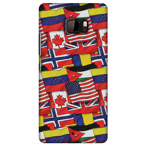 Flags United Slim Hard Shell Case For HTC U Ultra