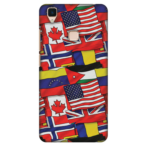 Flags United Slim Hard Shell Case For Vivo V3