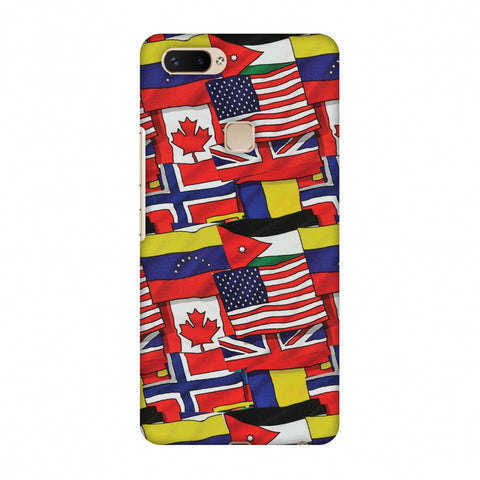 Flags United Slim Hard Shell Case For Vivo X20 Plus