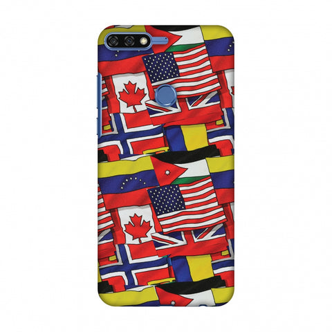 Flags United Slim Hard Shell Case For Huawei Honor 7C