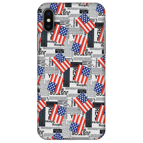 Usa Flags Slim Hard Shell Case For Apple iPhone X