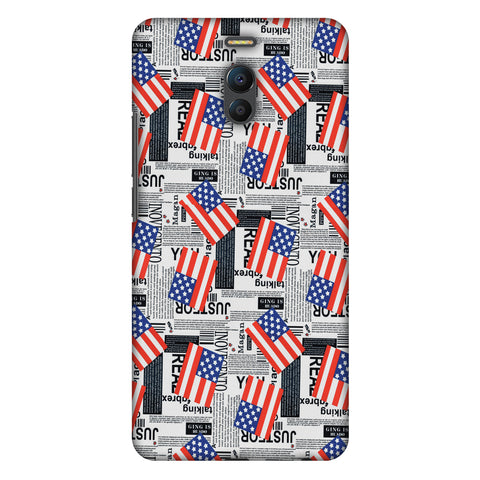 Usa Flags Slim Hard Shell Case For Meizu Note 6
