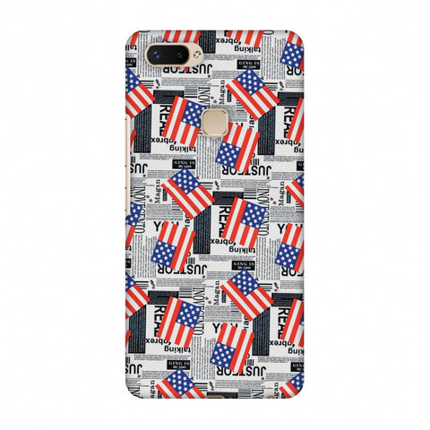 Usa Flags Slim Hard Shell Case For Vivo X20 Plus