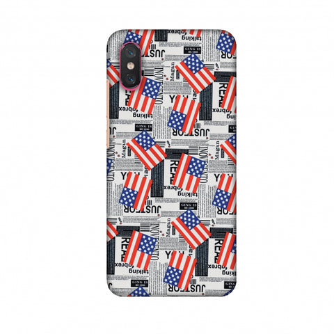 Usa Flags Slim Hard Shell Case For Xiaomi Mi 8 Pro