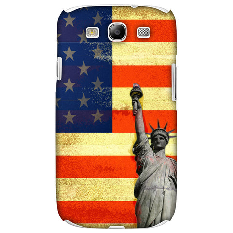 Rustic Liberty US Flag Slim Hard Shell Case For Samsung GALAXY S3