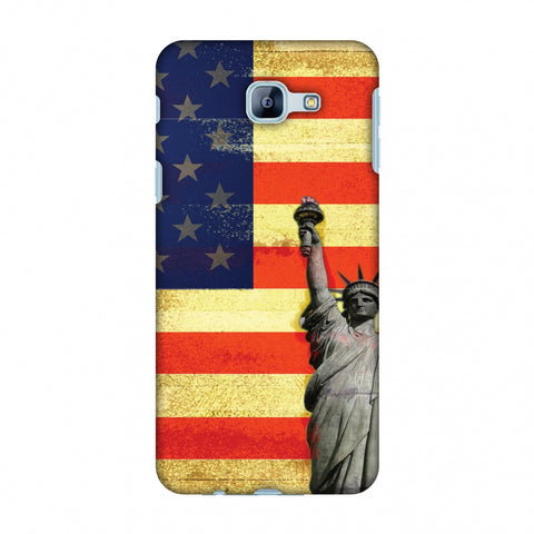 Rustic Liberty US Flag Slim Hard Shell Case For Samsung Galaxy A8 2016