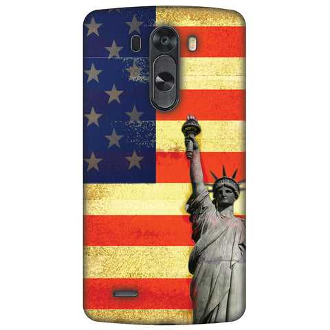 Rustic Liberty US Flag Slim Hard Shell Case For LG G4