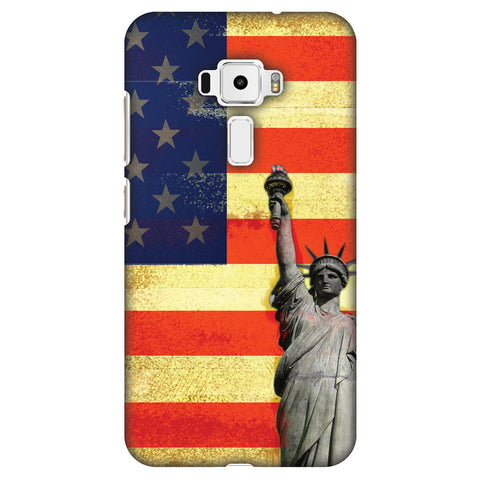 Rustic Liberty US Flag Slim Hard Shell Case For Asus Zenfone 3 ZE520KL
