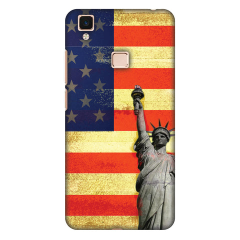 Rustic Liberty US Flag Slim Hard Shell Case For Vivo V3 Max