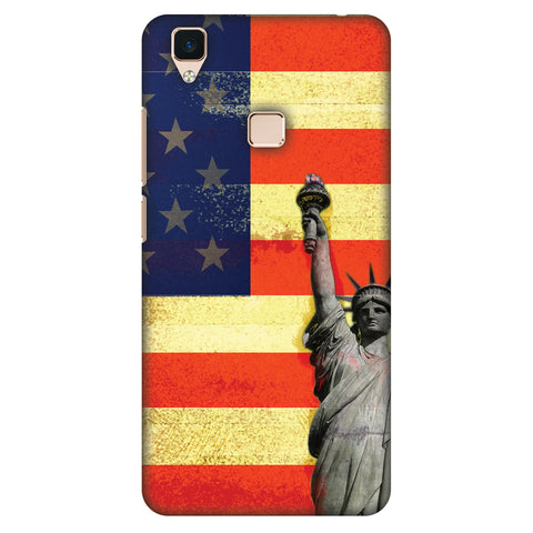 Rustic Liberty US Flag Slim Hard Shell Case For Vivo V3
