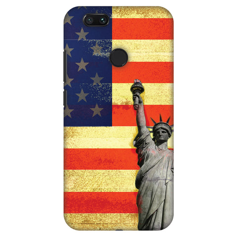Rustic Liberty US Flag Slim Hard Shell Case For Xiaomi MI A1-5X